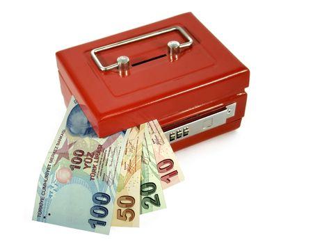 turkish lira: turkish lira in moneybox