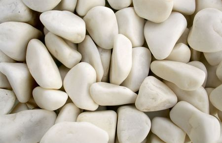 white pebble stones as background Stock Photo - 4375917
