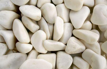 white pebble stones as background Stock Photo - 4375917