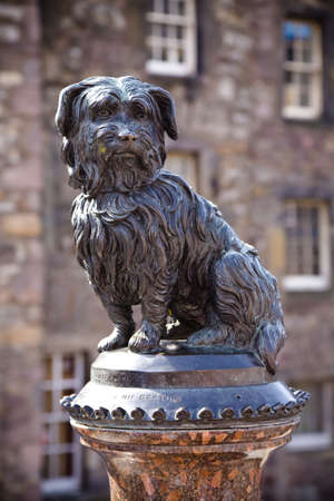 bobby: The statue of Greyfriars Bobby, a famous Terrier, in Edinburgh, Scotland