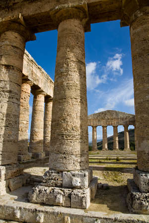 The Hellenic temple of Segesta in Sicily, Italy photo
