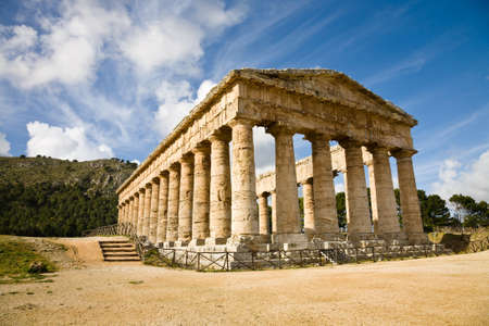 segesta: The greek temple of Segesta in Sicily, Italy
