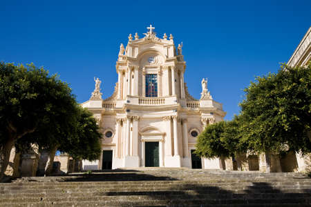 The Saint John Evangelist church in Modica, a Sicilian town in southern Italy photo
