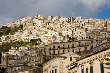 sicilian: The town centre of Modica in the Ragusa province of Sicily, Italy