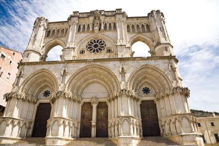 The gothic cathedral of Cuenca in Spain called the Basilica of Our Lady of Grace Stock Photo - 13634460