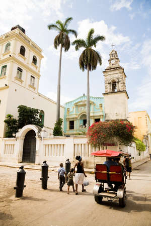 The Belen Convent and church in Old Havana in Cuba photo