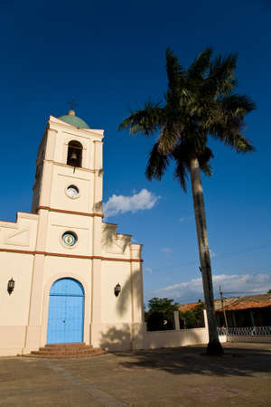 pinar: The church of the Cuban town of Vinales in the Pinar Del Rio province in Cuba Stock Photo