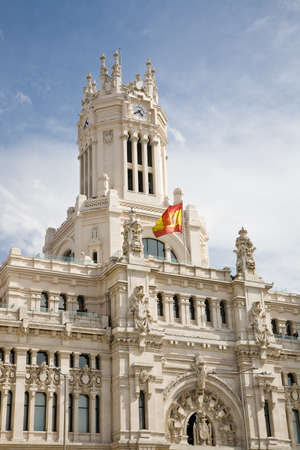 palacio de comunicaciones: The Town Hall of Madrid or the former Palace of Communications, Spain