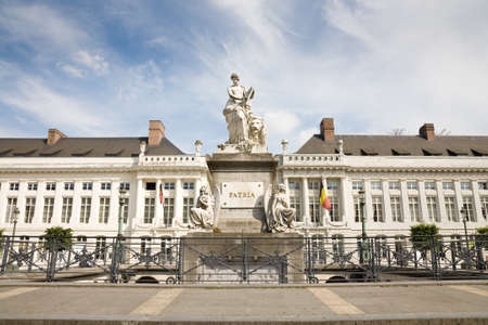 martyr: The Martyr square in Brussels with the Pro Patria memorial monument, Belgium