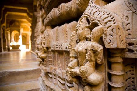jaisalmer: A Jain statue inside a temple in Jaisalmer in western Rajasthan, India
