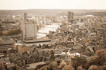 walloon: A cityscape of Liege or Luik in the Walloon part of Belgium Stock Photo