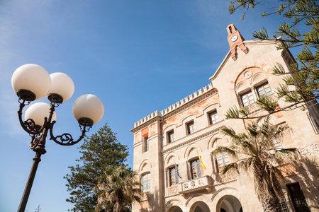 egadi: Favignana, Italy - 2016, April 17 : The Liberty style Villa Florio on the island of Favignana in the Egadi group in Sicily, Italy