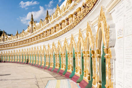 Sagaing, Myanmar - 2016, December 25 : The buddhist U Min Thonze Cave temple on the Sagaing Hill near the city of Mandalay in central Myanmar Editorial