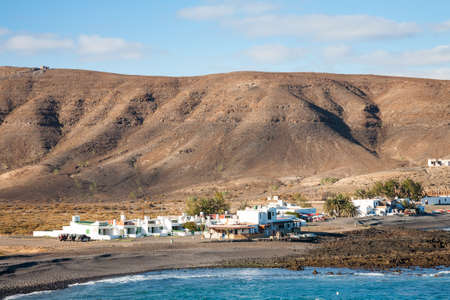 The scenic fishing village called Pozo Negro on the island of Fuerteventura, one of the Spanish Canary Islands Reklamní fotografie