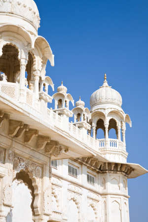 Jodhpur, India - January 3, 2015 : A detail of the Jaswant Thada mausoleum in the city of Jodhpur in central Rajasthan, India