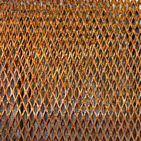 Grill metal hole on grunge texture background Stock Photo - 13677035