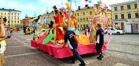 HELSINKI, FINLAND - JUNE 16: Unidentified dancers participate at the annual Samba Carnaval in Helsinki, Finland on June 16, 2012 Stock Photo - 14278106