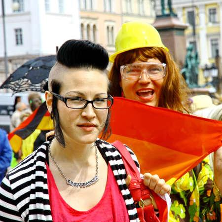 HELSINKI, FINLAND - JUNE 30: Unidentified people take part in the annual Helsinki Pride gay parade in Helsinki, Finland on June 30, 2012. Stock Photo - 17269180