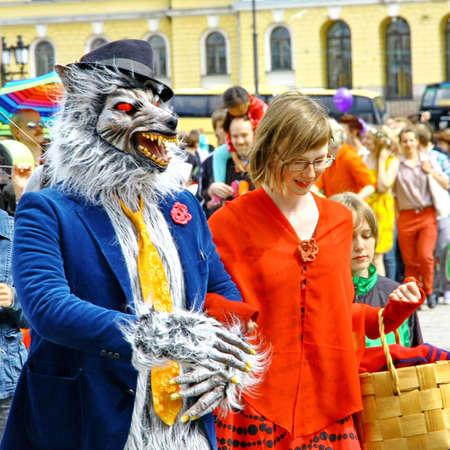 HELSINKI, FINLAND - JUNE 30: Unidentified people take part in the annual Helsinki Pride gay parade in Helsinki, Finland on June 30, 2012. Stock Photo - 17269177