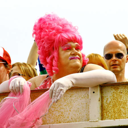 HELSINKI, FINLAND - JUNE 30: Unidentified people take part in the annual Helsinki Pride gay parade in Helsinki, Finland on June 30, 2012. Stock Photo - 17269174