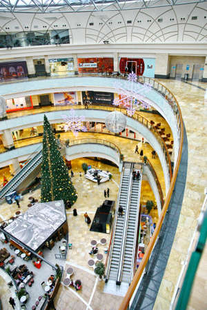 afimall: MOSCOW - JANUARY 4: Afimall on January 4, 2013 in Moscow, Russia. Shopping complex Afimall City is located in business center Moscow City. Total area Afimall-320 000 square meters Editorial