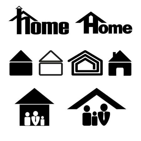 symbol: House symbol icon set in black on a white background