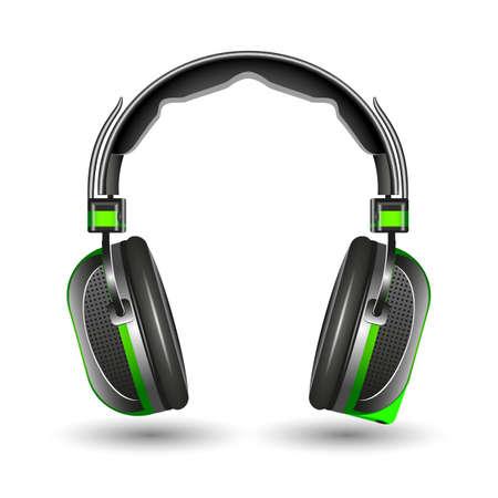 Headphones, isolated on a white background, vector illustration. Illustration