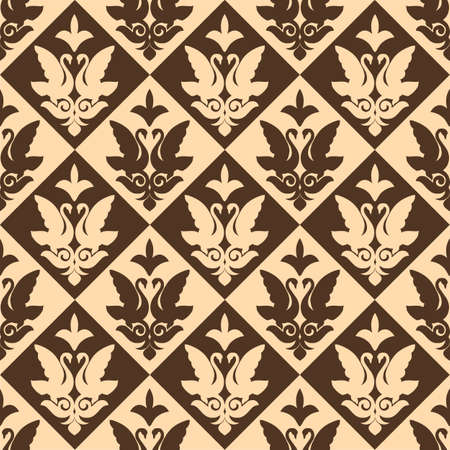 A Vector seamless pattern as a template in ethnic national style of Kazakhstan, Asia.