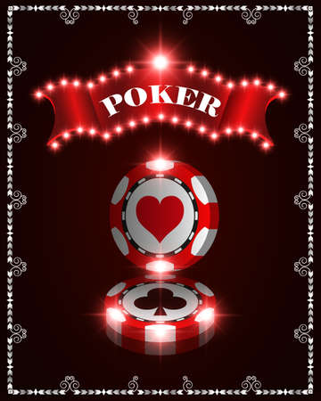 A Vector casino poker chips, template for design backgrounds, cards, banners.