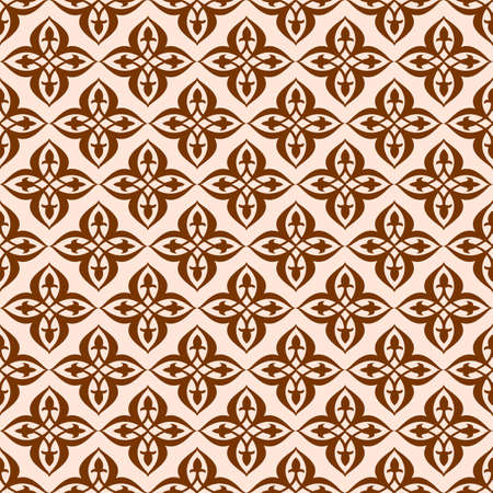 A Vector seamless pattern in ethnic national style of  Asia. 矢量图像