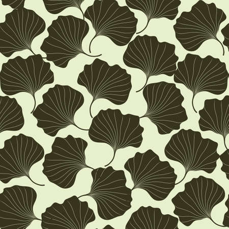 Seamless vector pattern hand draw abstract flowers on light background. Template for creating wallpaper, textile, backdrops. Ilustrace