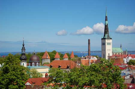 tallinn: Tallinn cityscape, Estonia. Eastern Europe Stock Photo