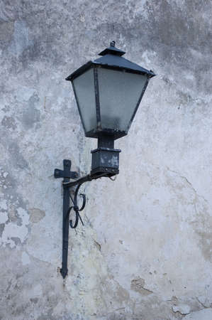 Old style lantern and wall. Europe Stock Photo - 3299497