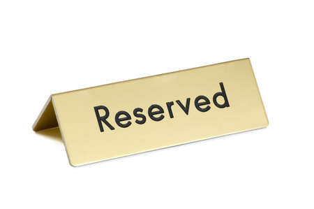 reserved sign: Reserved sign on white background