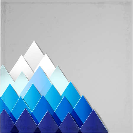 mountaintop: Background with stylized image of a mountain made of triangles.