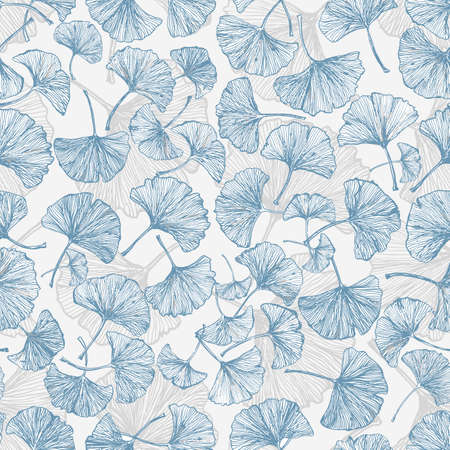 Floral seamless background with ginkgo leaves.This endless background can be used for wallpaper, pattern fills, textile, web page background, surface textures.