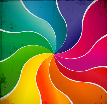 rainbow abstract: Curved lines abstract rainbow background.