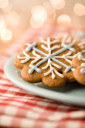 Delicious homemade Christmas gingerbread cookies