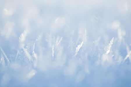 Close up of snow with ice crystals Stock Photo