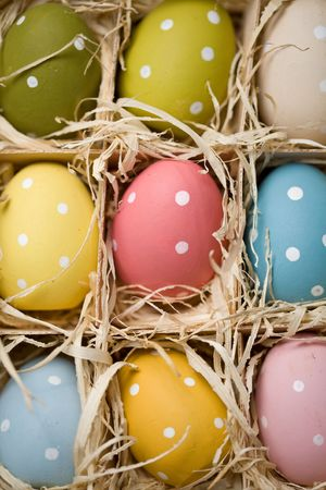 Bright and colourful Easter eggs photo