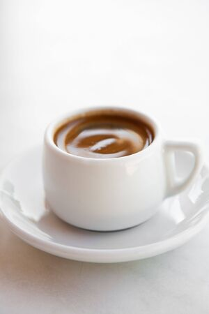 Cup of delicious and refreshing greek coffee photo