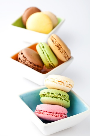 Macaroons. Delicate and delicious macaroons in pastel colors.