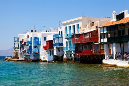 Little Venice in a greek island of Mykonos, Greece