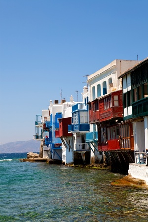Little Venice in a greek island of Mykonos, Greece