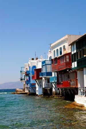 the little venice: Little Venice in a greek island of Mykonos, Greece