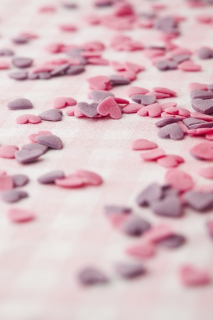 Close-up of little hearts for Valentine