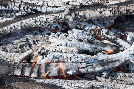 ignite: charcoal and fire flames. Ignite the fire.