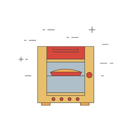 combi: Combi oven steamer line icon. Restaurant, bakery equipment. Commercial cooking.