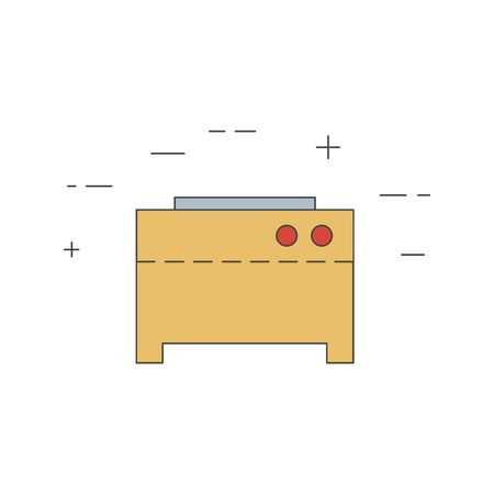 Crepe machine isolated line icon. Vector restaurant, bakery equipment. Commercial cooking.