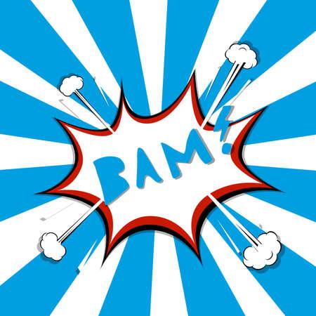 BAM comic speech bubble. Pop art style. Vector illustration. Illustration